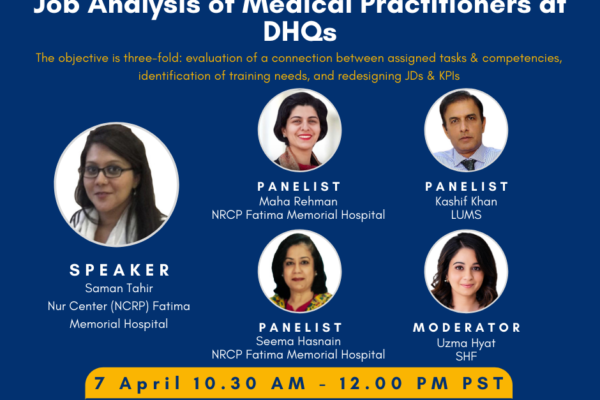 2nd PHRG Webinar – Job Analysis of Medical Practitioners at DHQs