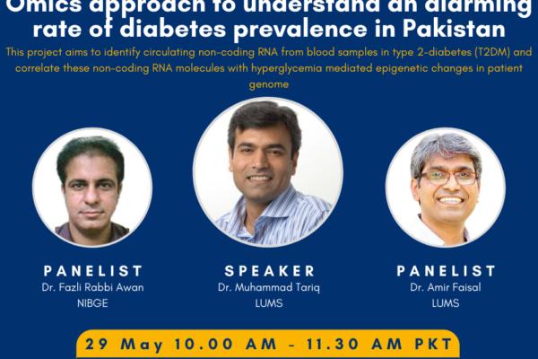 4th PHRG Webinar – Omics approach to understand diabetes prevalence in Pakistan