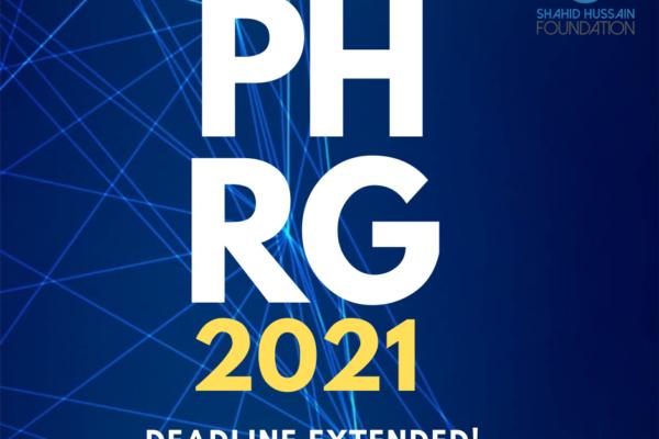 PHRG 2021: Deadline extended!